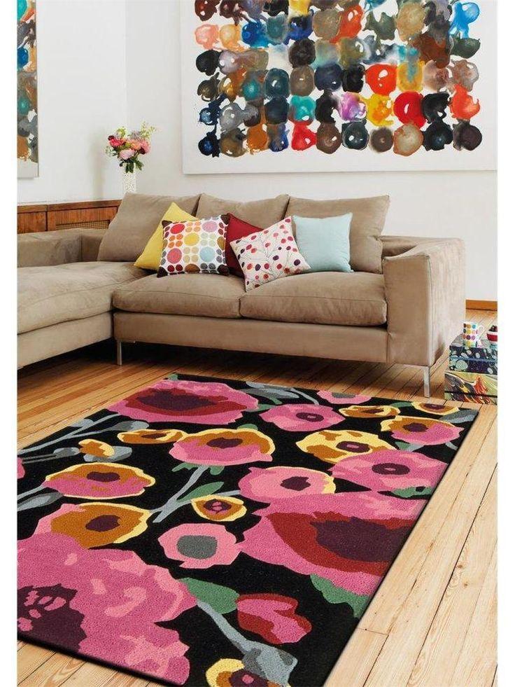Details Zu Teppich Wohnzimmer Carpet Modern Design MATRIX CALISTO BLUMEN RUG Wolle Gunstig