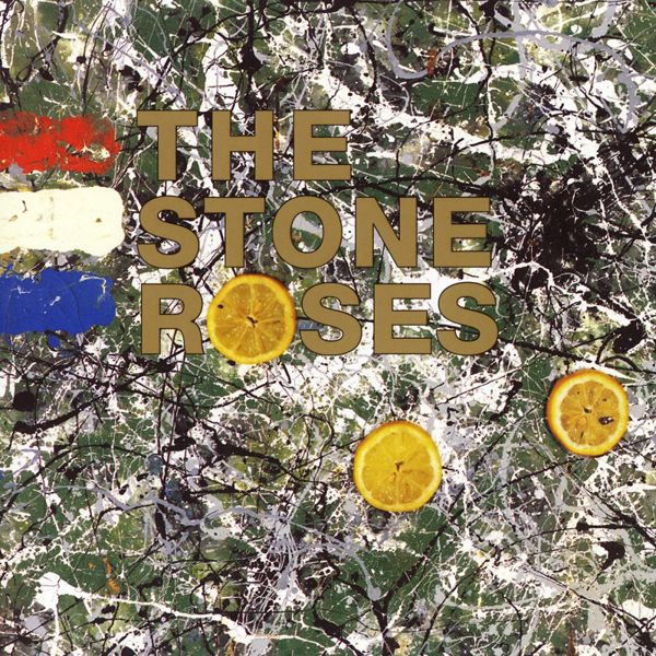 <b>The Stones Roses – The Stone Roses</b>: The cover art is a Jackson Pollock-influenced painting by Roses guitarist John Squire (also a noted artist), which is said to make reference to the May 1968 riots in Paris. The lemons that are featured on the sleeve refer to the fruit that was used as an antidote to tear gas.