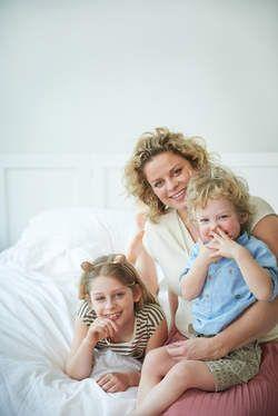 Schattig! Kim Clijsters poseert met haar kindjes