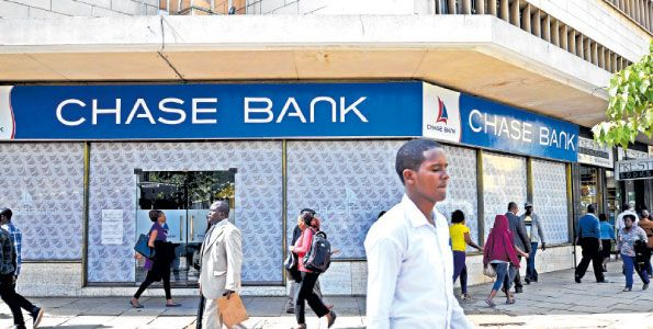 A Chase Bank branch in Nairobi. KCB has proposed to buy a majority stake in the lender that went belly up on April 7. PHOTO | SALATON NJAU