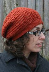 Free hat pattern for an easy slouch hat style  // I made this with scrap yarn and learned that a thinner, softer yarn is preferable for this style. Also, when making the band, keep the yarn loose around the hook, otherwise, the band gets very dense and stiff.