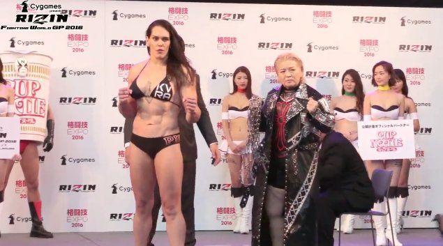 On Dec 31st in a Japanese MMA promotion 6'1 215lbs Gabi Garcia will face 49 yr old Yumiko Hotta. RIP Grandma.
