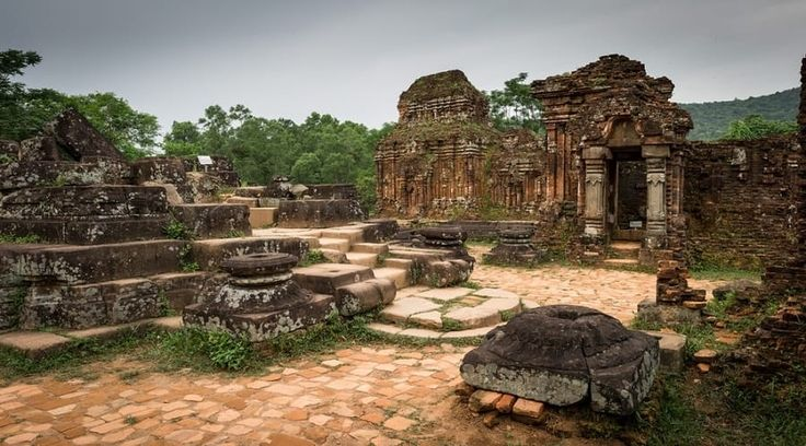 Top Vietnam Sightseeing Attractions -  Bounded by lush jungle-covered mountains, My Son is a ruined Cham age temple city that times from the 4th hundred years.
