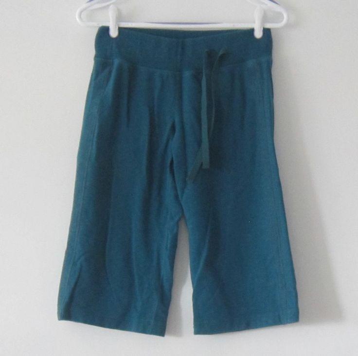 Lululemon dark teal crop short capri pants sweats 6 #Lululemon #PantsTightsLeggings