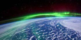 Astronauta de la Nasa capta una aurora boreal desde el espacio