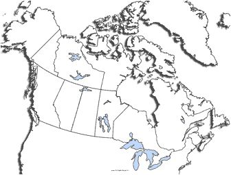 Great site with lots of printable maps of Canada (with and without various labels)