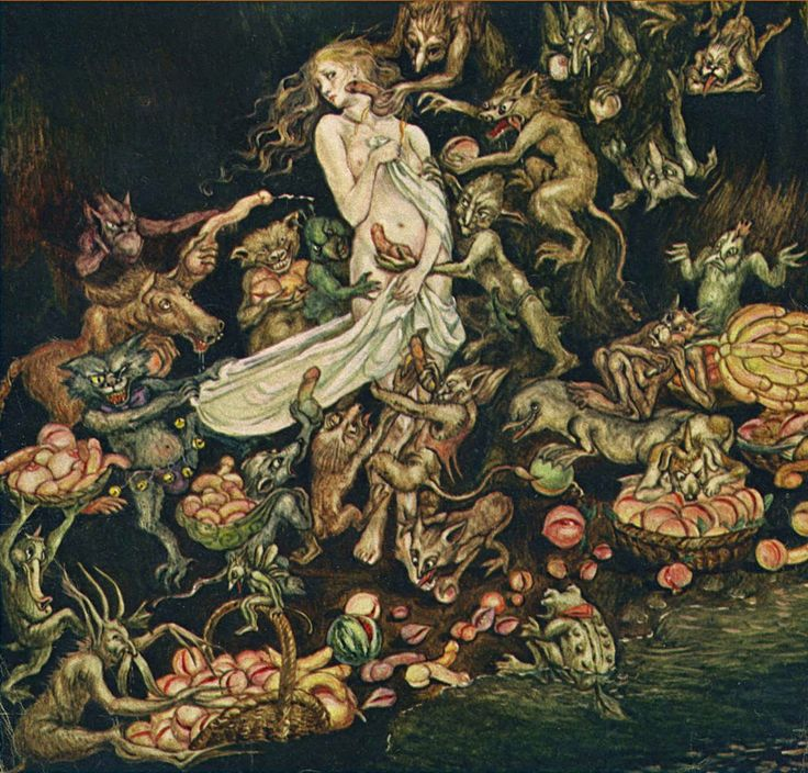 an overview of the goblin market by christina rossetti Christina rossetti's goblin market illustrates her religious belief as  of the  social position of women in the north british review, in which.