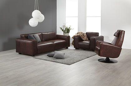Boheemi Monaco sohvaryhmä aitoa antiikkinahkaa / Bohemian Monaco leather sofa www.finsoffat.fi