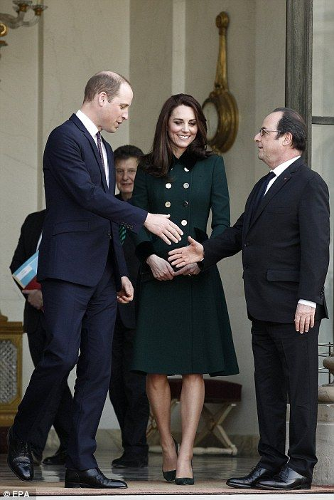 French President Francois Hollande shook hands with Prince William