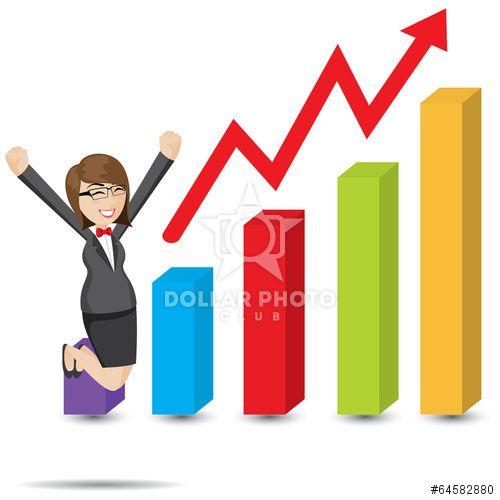 https://cz.dollarphotoclub.com/stock-photo/cartoon businesswoman with rising chart/64582880 Dollar Photo Club miliony kvalitních obrázků za 1$ za každý