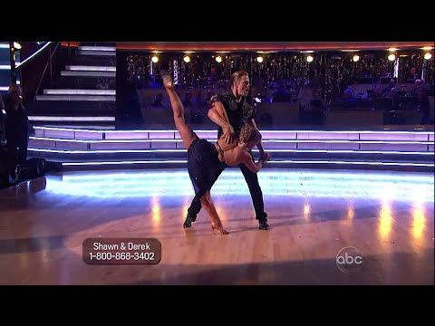 Shawn Johnson and Derek Hough All Star Dances. No judges commentary no packages just terrific dancing! YouTube