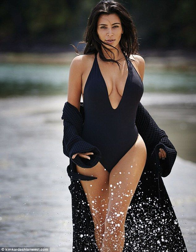 Brains and beauty: Kim Kardashian West shared a sneak peek of her shoot for the Spring 2016 issue of Editorialist magazine on her website and app. The photograph was taken by Gilles Bensimon