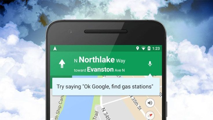"""Android: Google's updated Google Maps to respond to voice commands. This means you can use """"OK Google"""" to do all sorts of things, like alter your navigation path, find gas stations, and plenty more."""