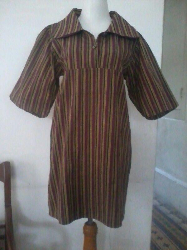 Batik lurik, tunic blouse, size M, direct wa 08812775835
