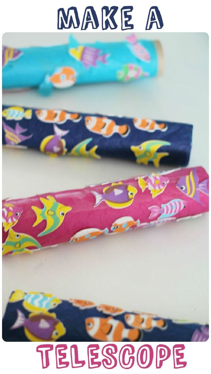 Make a telescope craft - with a fish theme. Easy and fun! From http://intheplayroom.co.uk
