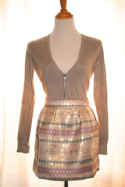Foil Print Skater Skirt - perfect for any holiday party!
