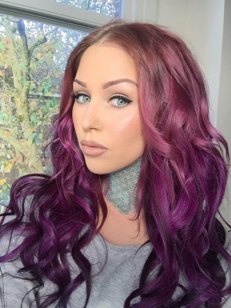 ombre en tonos violetas