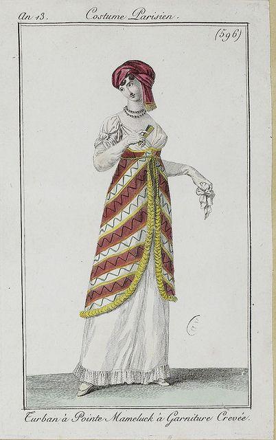 via Flickr. Costume Parisien ca 1805