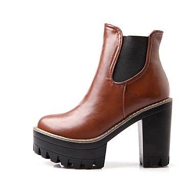 scarpe stivali moda femminile punta rotonda grosso tacco stivali alla caviglia con gore più colori disponibili - EUR € 68.17