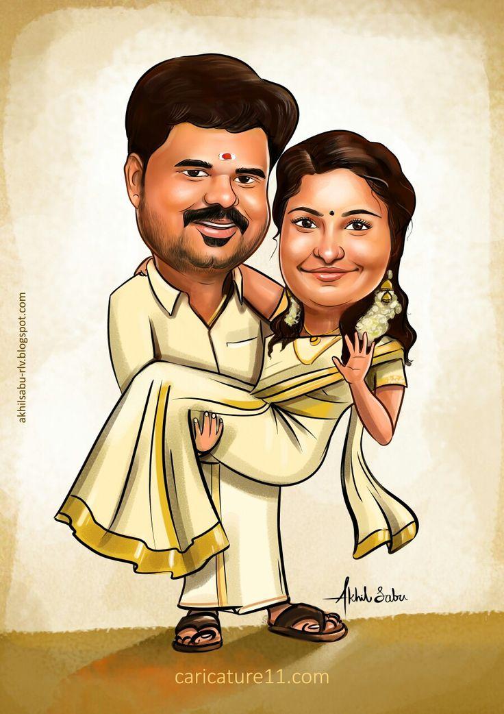 Pin By Akhil Sabu On Wedding Caricature Wedding Caricature Caricature Caricature Wedding
