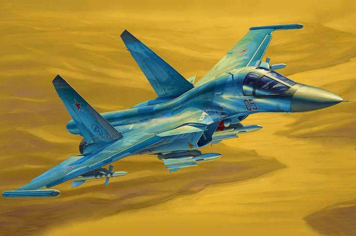 Russian Su-34 Fullback Fighter-Bomber 1/48 Hobby Boss