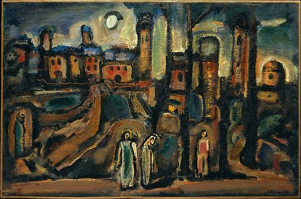 post impressionism and rouault french fauvism Georges henri rouault was a french painter, draughtsman, and printer, whose work is often associated with fauvism and expressionismmore on wikipedia artworks: head of christ, sea of galilee, christ mocked by soldiers, clown, the three judges, + more.