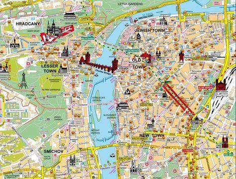 praga | Mappa di Praga-Mappe utili per visitare Praga