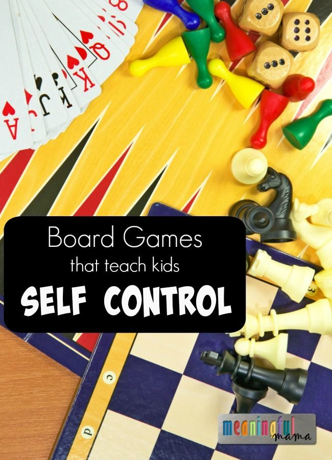 Board Games that Teach Kids Self Control
