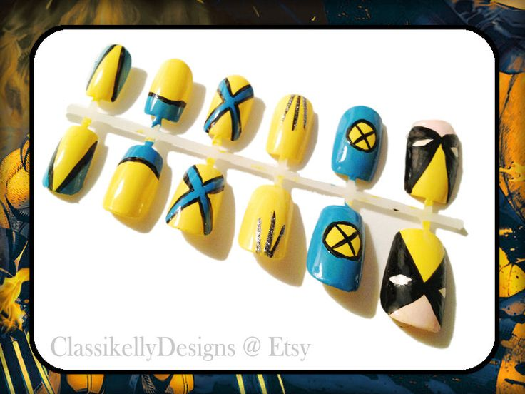 X-men Wolverine Nail Set. $20.00, via Etsy.
