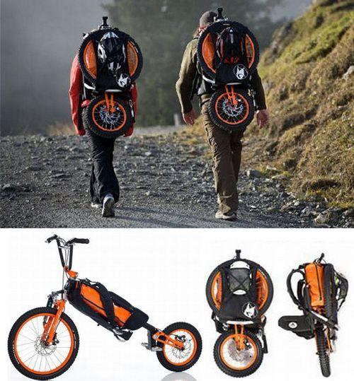 Pledgin bicycle to downhill: Design Ideas, Brilliant Ideas, Folding Bike, Bike Bag, Clever Ideas, Bags