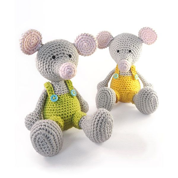Manfred the Mouse amigurumi pattern by Pii_Chii | Tiere