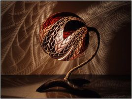 Table lamp X - Fractal - by night 3 by Calabarte