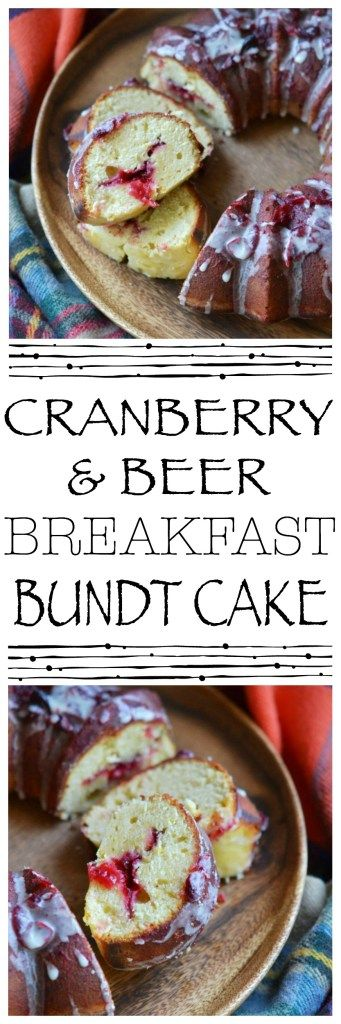 Cranberry sauce and beer are the secret to making this fall breakfast Bundt cake so amazingly delicious. Who says you can't have beer for breakfast?
