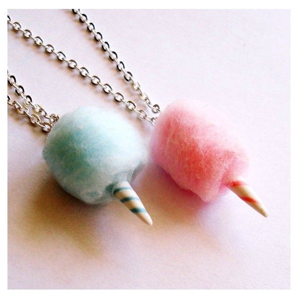 Classic Cotton Candy Necklaces ❤ liked on Polyvore featuring jewelry, necklaces and cotton jewelry