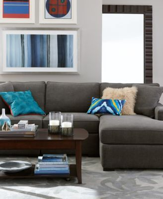 Radley 5 Piece Fabric Chaise Sectional Sofa Sectional
