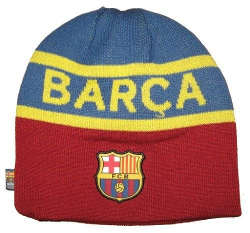 FC Barcelona Style Beanie, Style 06 by Rhinox. $15.50. Official FC Barcelona Merchandise. 55% Cotton / 45% Acrylic. A must have for all Barcelona Fans.. Official FC Barcelona merchandise. Club Logo featured as well as team name. Fleece Lined Stocking Cap.