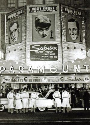 The Premiere Of Sabrina, 1954 ~ Audrey Hepburn, Humphrey Bogart And William Holden