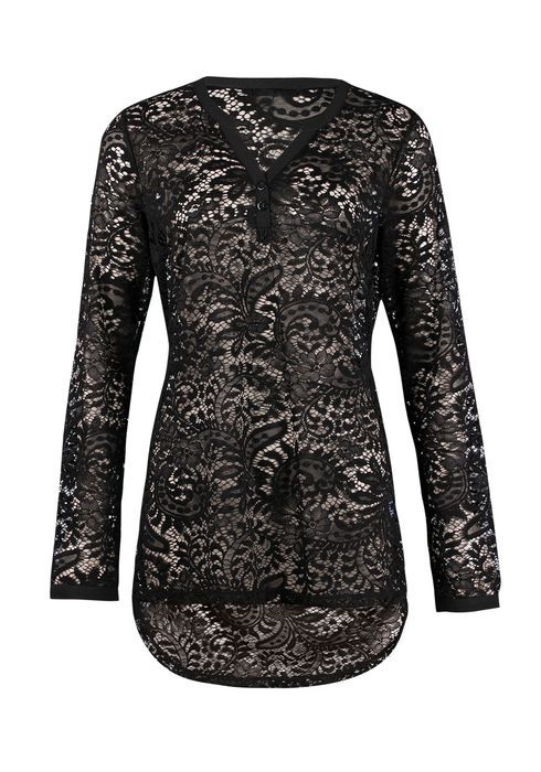 LADIES' LACE HENLEY TUNIC