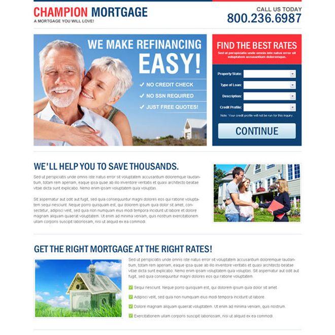 15 best mortgage landing page design images on Pinterest Landing - mortgage templates