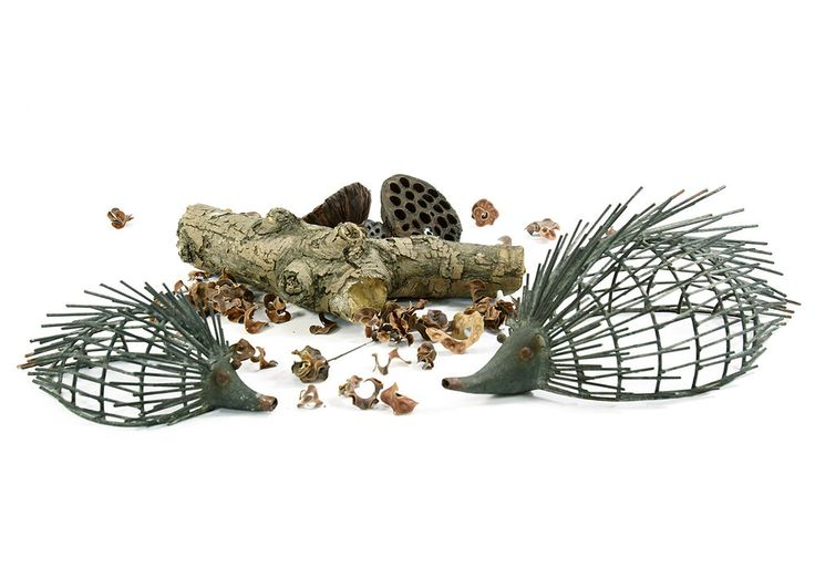 Metal Hedgehog Garden Ornament.  2 siizes available.  Garden Art & Sculpture