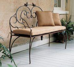 lovely wrought iron bench garden