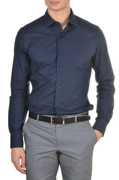 Mastai Ferretti - Camisa De Hombre Slim. Cuello Italiano.