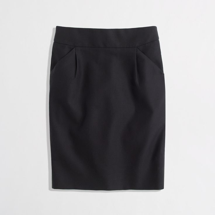 Factory pencil skirt in double-serge cotton with pleats - pencil - FactoryWomen's Skirts - J.Crew Factory