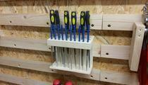 French Cleat Wand - Feilenhalter Teil 2 feilen, Halterung, Werkzeugwand, Werkzeughalter, French Cleat, French Cleat Wand