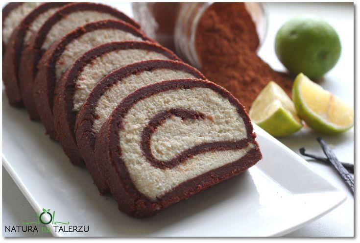 Rolada kakaowo waniliowa bez pieczenia
