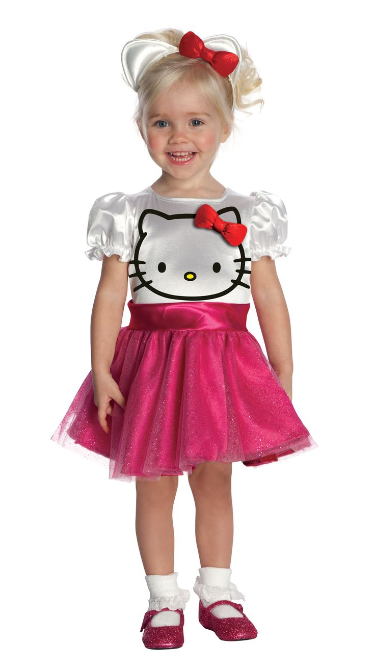 Hello Kitty Halloween Toddler Costume. Dude, I could make this. I'm pinning for DIY homemade costume reference