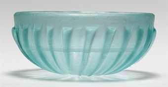 Roman ribbed blue glass bowl, late 1st century BC. Univers Mininga