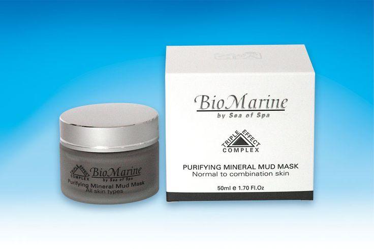 Oczyszczająca mineralna maska błotna do twarzy. Bio Marine, 50 ml. Do skóry normalnej i mieszanej wzbogacona minerałami z Morza Martwego, witaminami, dokładnie zmywa i oczyszcza skórę , tym samym odżywia ją w substancje niezbędne dla zdrowia. Unikalne składniki z Błota z Morza Martwego dają skórze świeży i promienny wygląd , pozostawiając ją wygładzoną , witalną i przyjemną w dotyku.