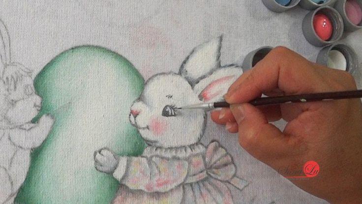 Coelha com Filhote em Tecido (Aula 117/ Parte 1)