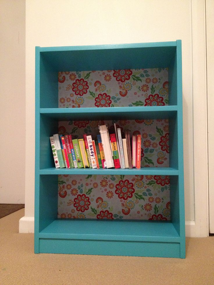 Fabric backed bookcase for Gaby.